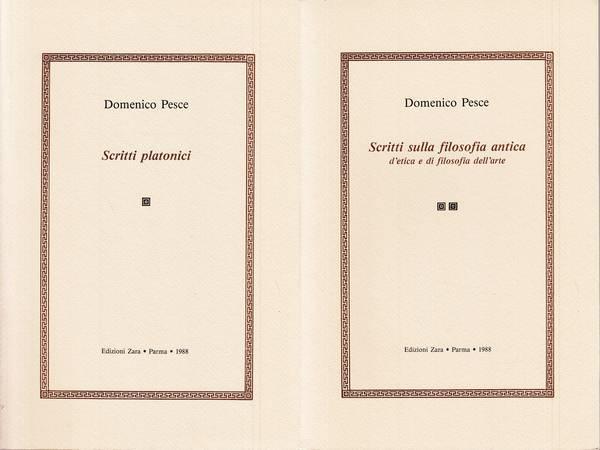 Scritti platonici e Scritti sulla filosofia antica d'etica e di filosofia dell'arte