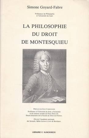 La philosophie du droit de Montesquieu