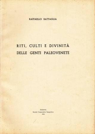 Riti, culti e divinità delle genti paleovenete