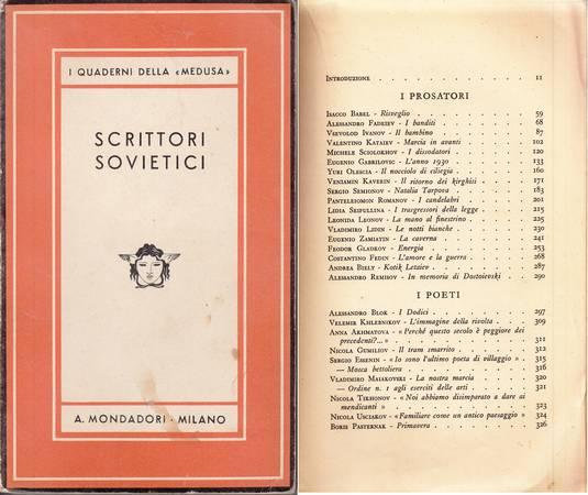 Scrittori sovietici. Raccolta antologica di prose e poesie