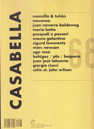 Casabella. 687. Marzo 2001