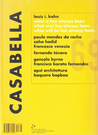 Casabella. 693. Ottobre 2001