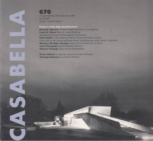 Casabella. 670. Settembre 1999