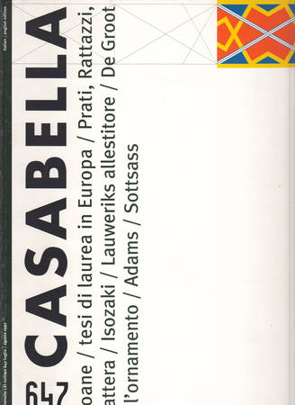 Casabella. 647. Luglio-Agosto 1997