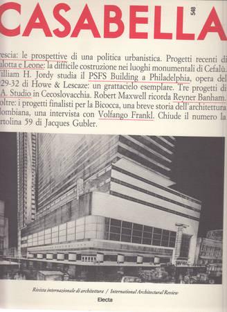 Casabella. 548. Luglio-Agosto 1988
