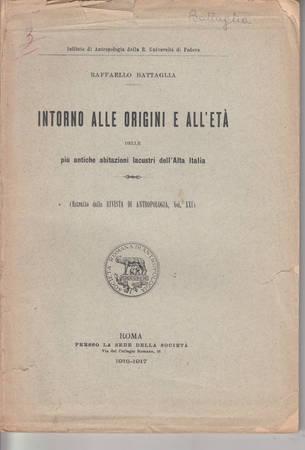 Intorno alle origini e all'età delle più antiche abitazioni lacustri dell'Alta Italia
