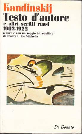 Testo d'autore e altri scritti russi 1902-1922
