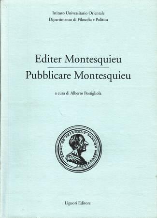 Editer Montesquieu-Pubblicare Montesquieu