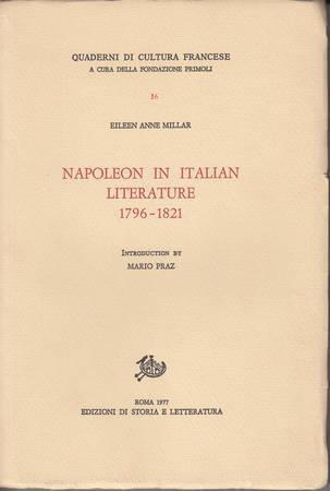 Napoleon in Italian Literature 1796-1821