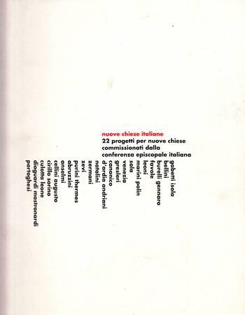 Concorsi per nuovi complessi parrocchiali nelle diocesi di Milano, Perugia e Lecce 1998-1999