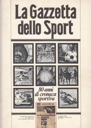La Gazzetta dello Sport. 80 anni di cronaca sportiva
