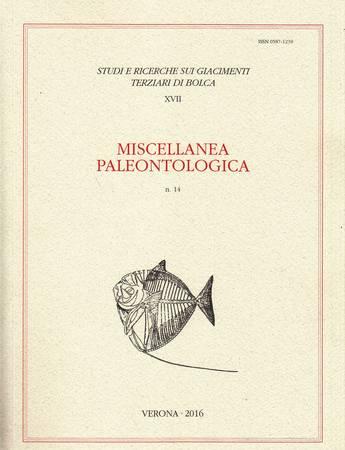 Miscellanea paleontologica n. 14 [Contiene: Romano Guerra, Bibliografia e citazioni di Bolca. Opere dal 1851 al 1900 (secondo contributo)]