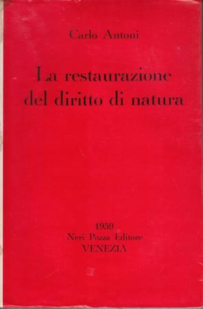 La restaurazione del diritto di natura