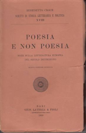 Poesia e non poesia. Note sulla letteratura europea del secolo decimonono
