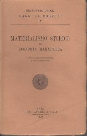 Materialismo storico ed economia marxistica