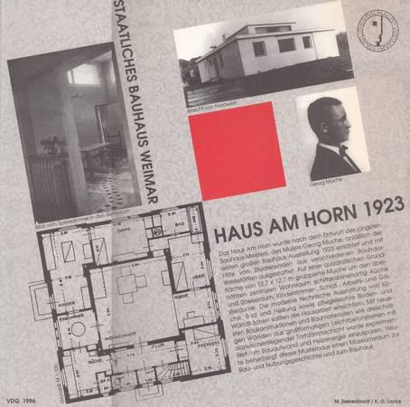StaatlichesBauhaus Weimar. Haus am Horn 1923. Ein Baukasten [modellino da ritaglio]