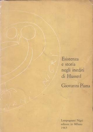 Esistenza e storia negli inediti di Husserl