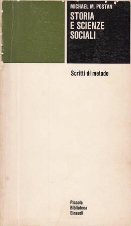 Storia e scienze sociali. Scritti di metodo